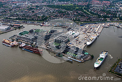 Port of Rotterdam Editorial Stock Photo