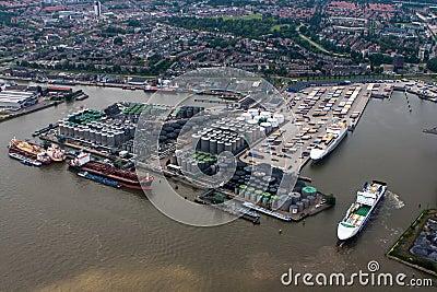 Port of Rotterdam Editorial Stock Photo