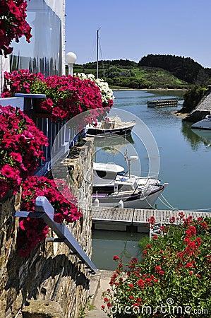 Port of Sauzon at Belle Ile in France
