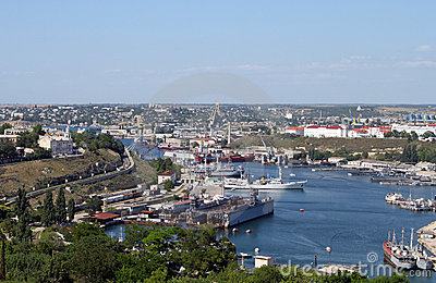In the port of Sevastopol