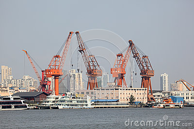 Port in Shanghai, China Editorial Stock Image