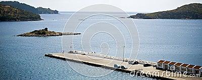 Port in skiathos island