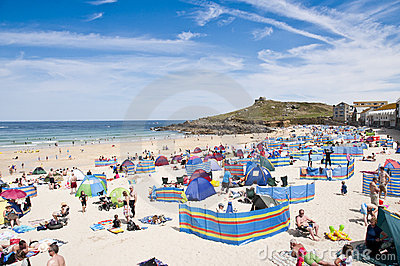 Port St. Ives, Cornwall, UK Editorial Stock Photo
