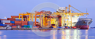 Port Terminal Panorama Industry