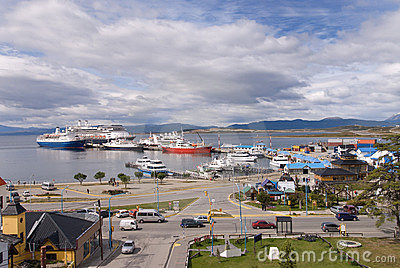 Port at Ushuaia, The Southermost City in the World