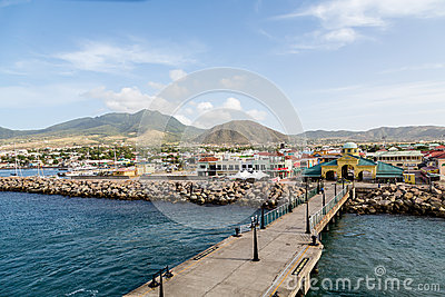 Port zante on st kitts by pier editorial stock image for Port zante st kitts