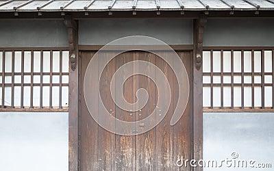 Porta antica tradizionale della casa del giappone for Case del giappone