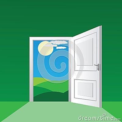 Porta aperta fotografie stock libere da diritti immagine for Porta aperta