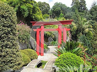 Porta de Torii do japonês
