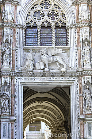Free Porta Della Carta Entrance Of The Doge S Palace In Venice Royalty Free Stock Photos - 40823858