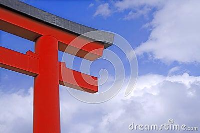 Porta japonesa do templo