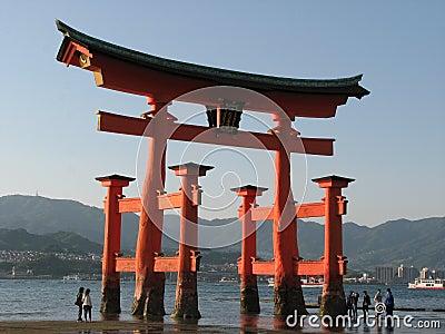 Porta japonesa em Miyajima