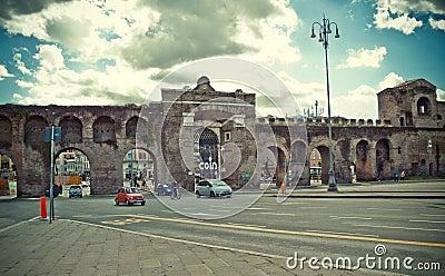 Porta Maggiore Rome, Italy Editorial Stock Image