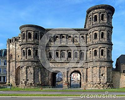 The Porta Nigra (Black Gate) in Trier, Germany