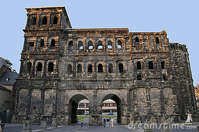Porta Nigra entrance gate town Trier