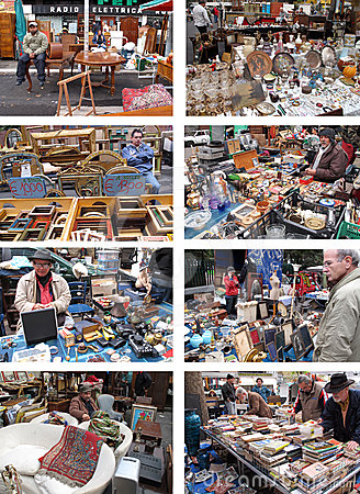 Porta Portese Flea Market in Rome, Italy Editorial Stock Photo