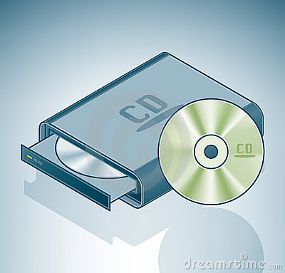 Portable CD-ROM drive