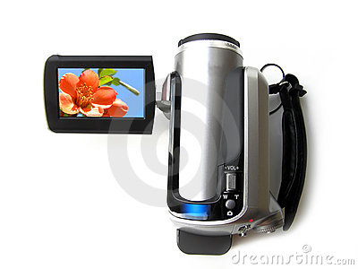 Portable digital video camera