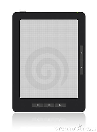 Portable E-Book Reader with Clipping path