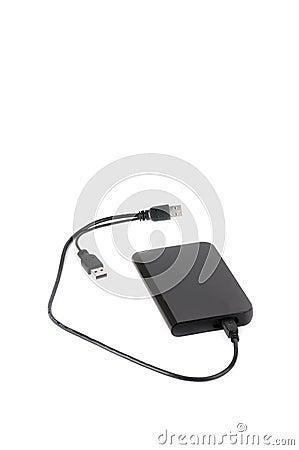 Portable external hard disk drive
