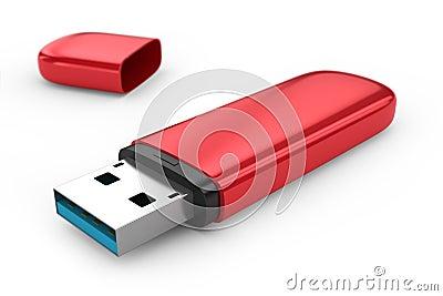 Portable flash usb drive memory.