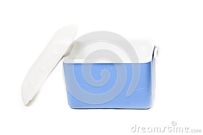 Portable Fridge Blue Royalty Free Stock Photography - Image: 25700627