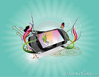 Portable game vector illustration