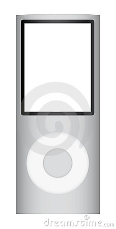 Portable mp3 music player Editorial Photo