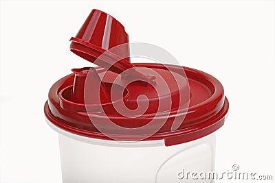 Portable plastic cup