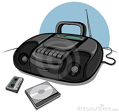 Portable tape recorder with CD player
