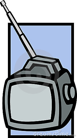 Portable television vector illustration