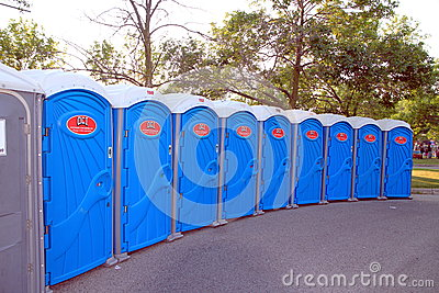 Portable Toilets Editorial Photo