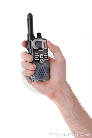 Portable UHF radio transceiver