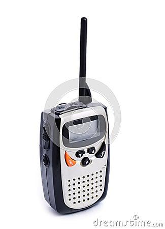 Portable walkie talkie radio