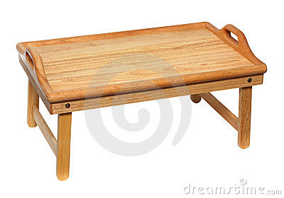 Portable wooden table
