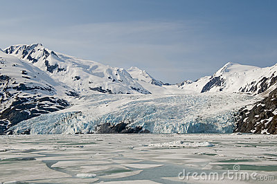 Portage Glacier and ice floes