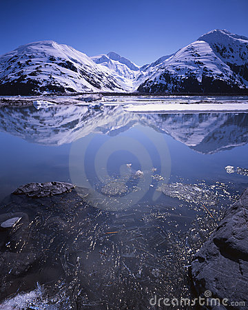 Portage Lake, Alaska, in early summer
