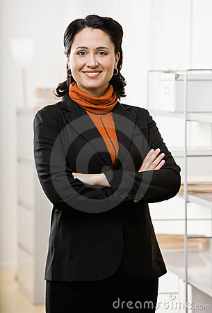 Portait of business woman in office