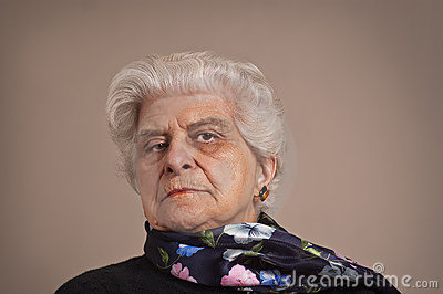 Portait of an elderly lady.
