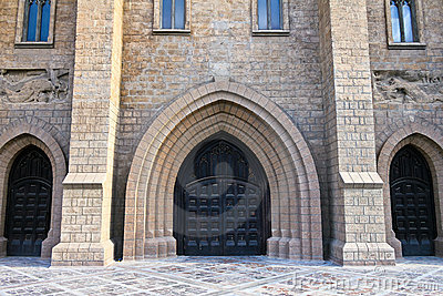 Portal of Roman catholic church