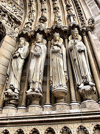 Portal sculptures of Notre Dame cathedral