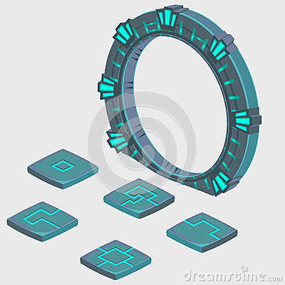 Free Portal To Another Dimension And Plate With Runes Royalty Free Stock Photos - 68872138