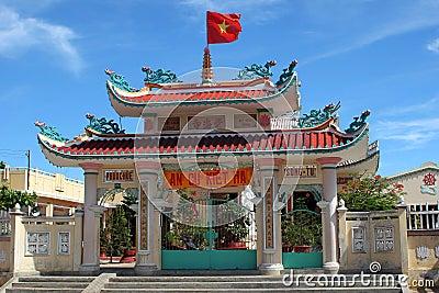 Portal of vietnamese chapel