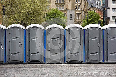 Portaloos at an outdoor event