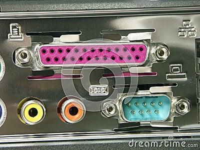 Portas da conexão de PC
