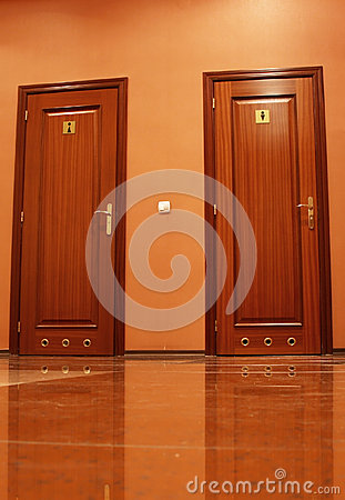 Portas do toalete