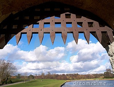 Portcullis and view