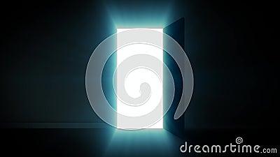 Porte à la lumière de ciel illustration libre de droits