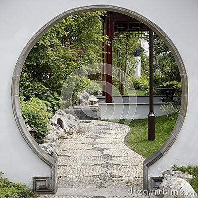 porte au jardin japonais photo libre de droits image 32428145. Black Bedroom Furniture Sets. Home Design Ideas