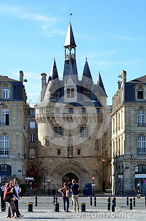 Porte Cailhau in Bordeaux Editorial Stock Image